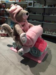 Motorrijder roze
