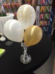 Vaasje incl. 3 ballonnen