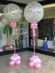 Ballon huwelijk, doorzichtig met tule