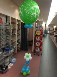Ballon groot 30 met bloem