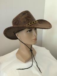Cowboyhoed bruin lederlook
