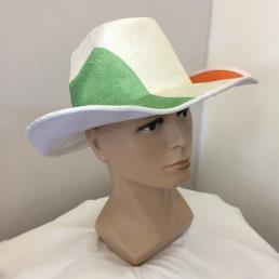 Cowboyhoed groen wit oranje