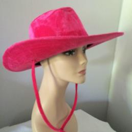 Cowboyhoed fluweel roze