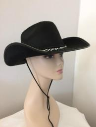 Cowboyhoed zwart vilt