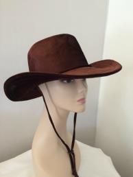 Cowboyhoed fluweel bruin