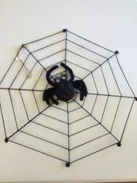 Spinnenweb met spin (dik)