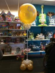 Grote ballon '50' met tule