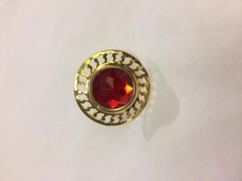 Ring sint goud/rood rond