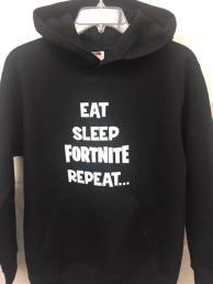 Trui zwart (eat, sleep, Fortnite, repeat)