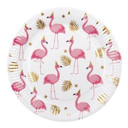 Bord flamingo karton 6st