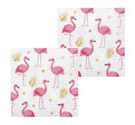 servetten 12 st flamingo (33x33cm)