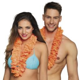 Hawaikrans luxe neon oranje