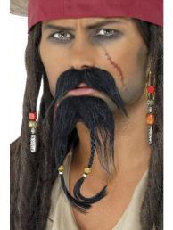 piraten baard + snor