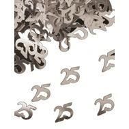 Tafelconfetti zilver 25