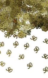 Tafelconfetti 50 goud