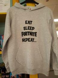 Trui grijs (eat, sleep, Fortnite, repeat)
