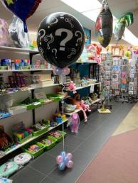 Gender reveal ballon vraagteken